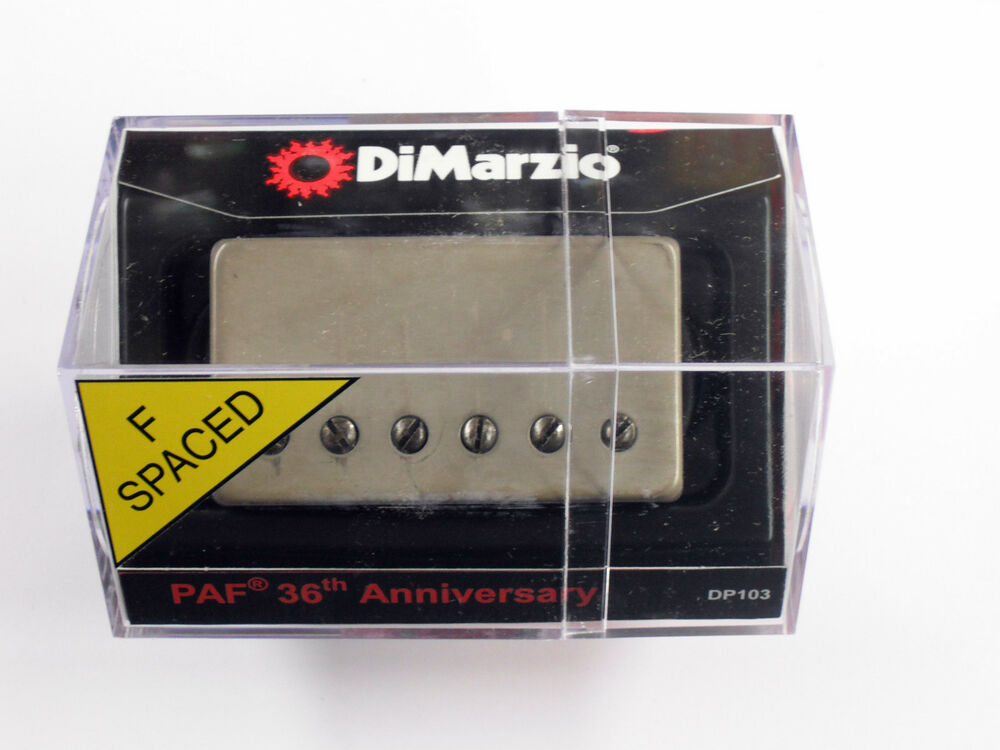 dimarzio f spaced 36th anniversary paf neck humbucker w aged nickel cover dp 103 ebay. Black Bedroom Furniture Sets. Home Design Ideas