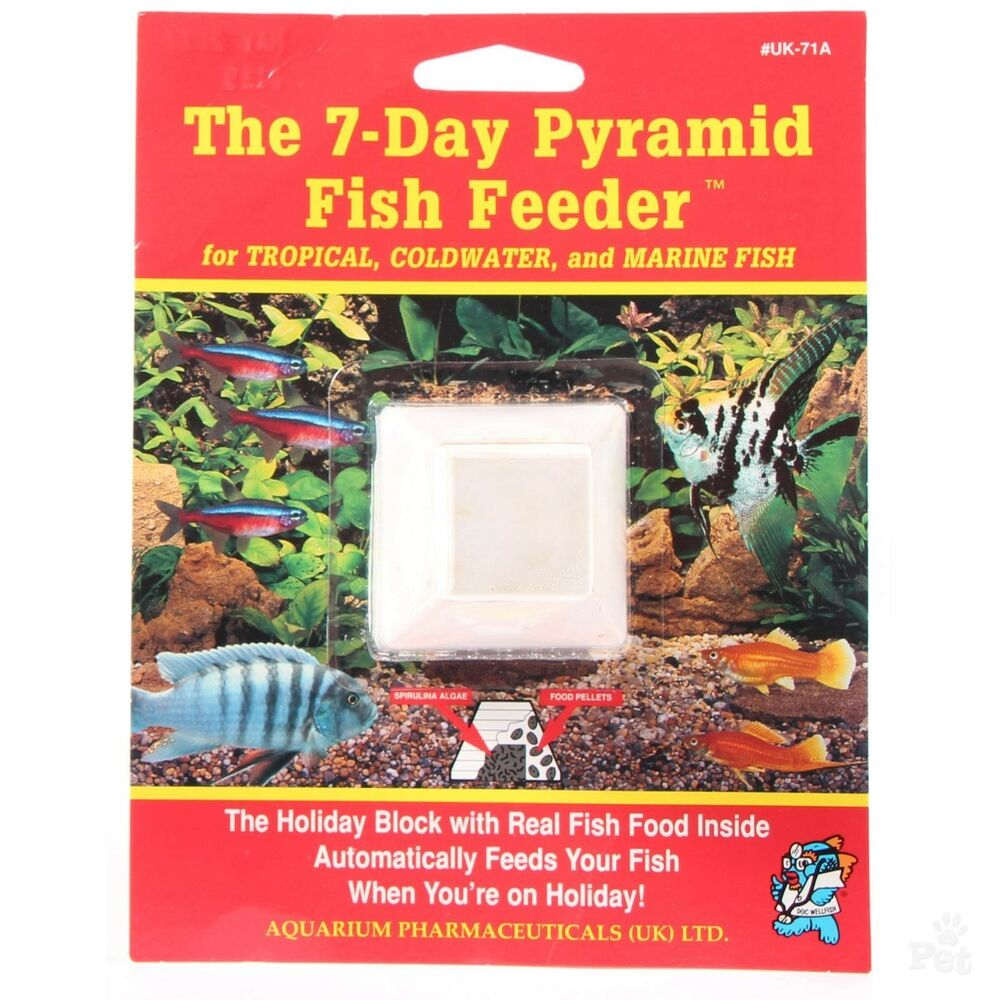 Api 7 day holiday blocks tropical fish food feeder for Weekend fish feeder