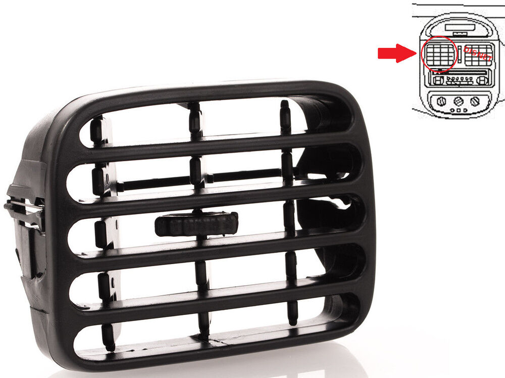 renault clio ii thalia ventilation grille bouche centre c t gauche noir ebay. Black Bedroom Furniture Sets. Home Design Ideas