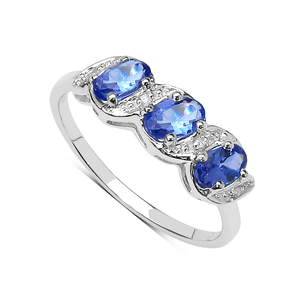 9ct white gold tanzanite diamond eternity engagement ring anniversary gift ebay. Black Bedroom Furniture Sets. Home Design Ideas