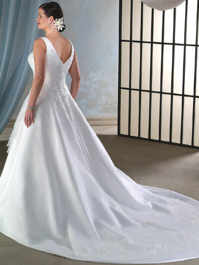 Plus size straps long train wedding dress bridal gown size for Ebay wedding dresses size 18 uk