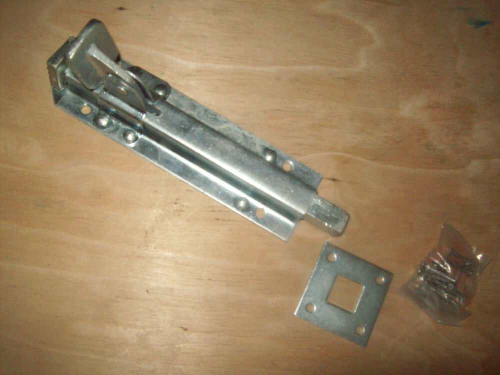 Hasp And Staple >> HEAVY DUTY GALVANIZED FOOT OPERATED GARAGE DOOR GATE DROP BOLT LOCK | eBay
