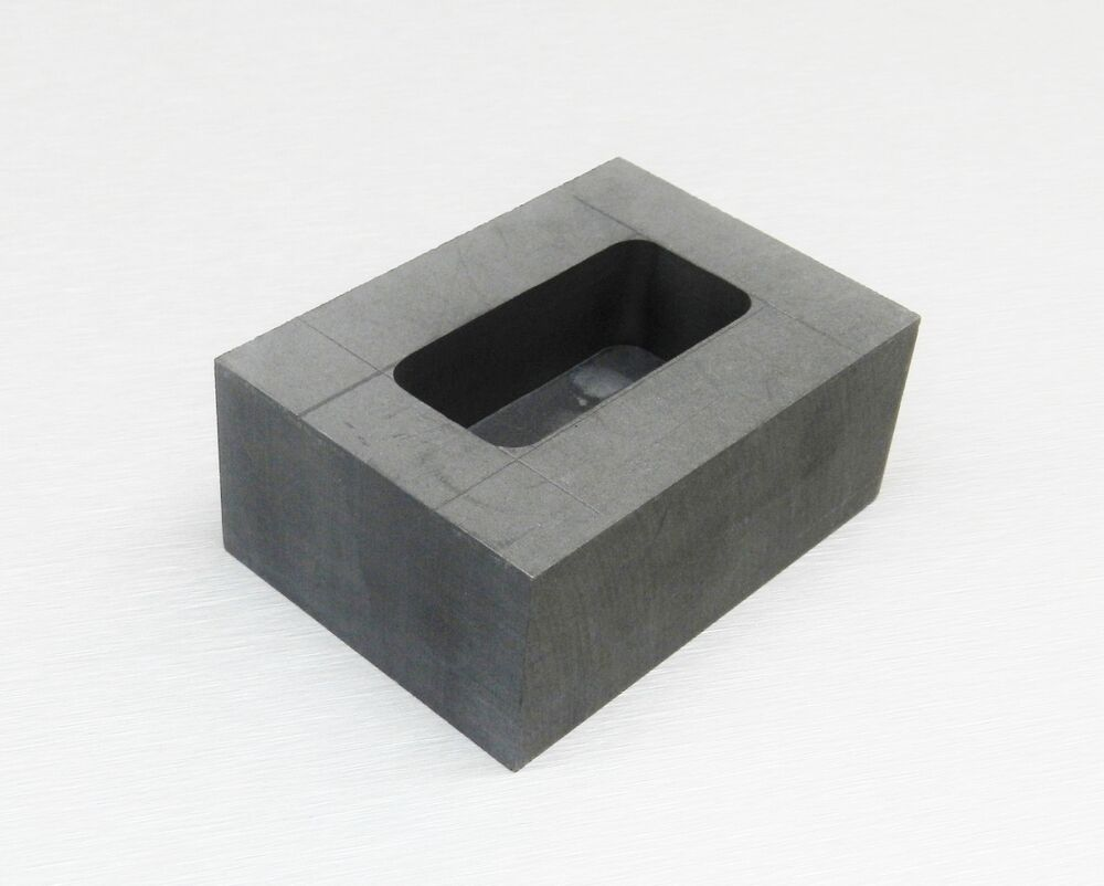 250 Gram Graphite Ingot Mold Machined Melting Kit To Pour