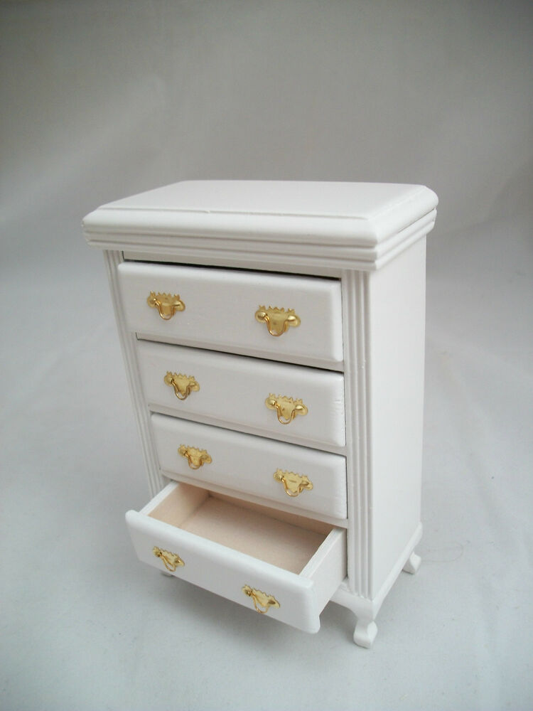 White Dresser T5672 Chest Of Drawers Miniature Dollhouse