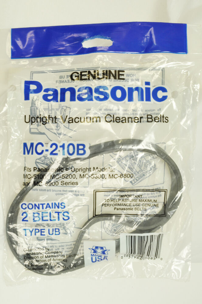 Panasonic Type Ub Upright Vacuum Cleaner Belt Mc 5100 Ebay