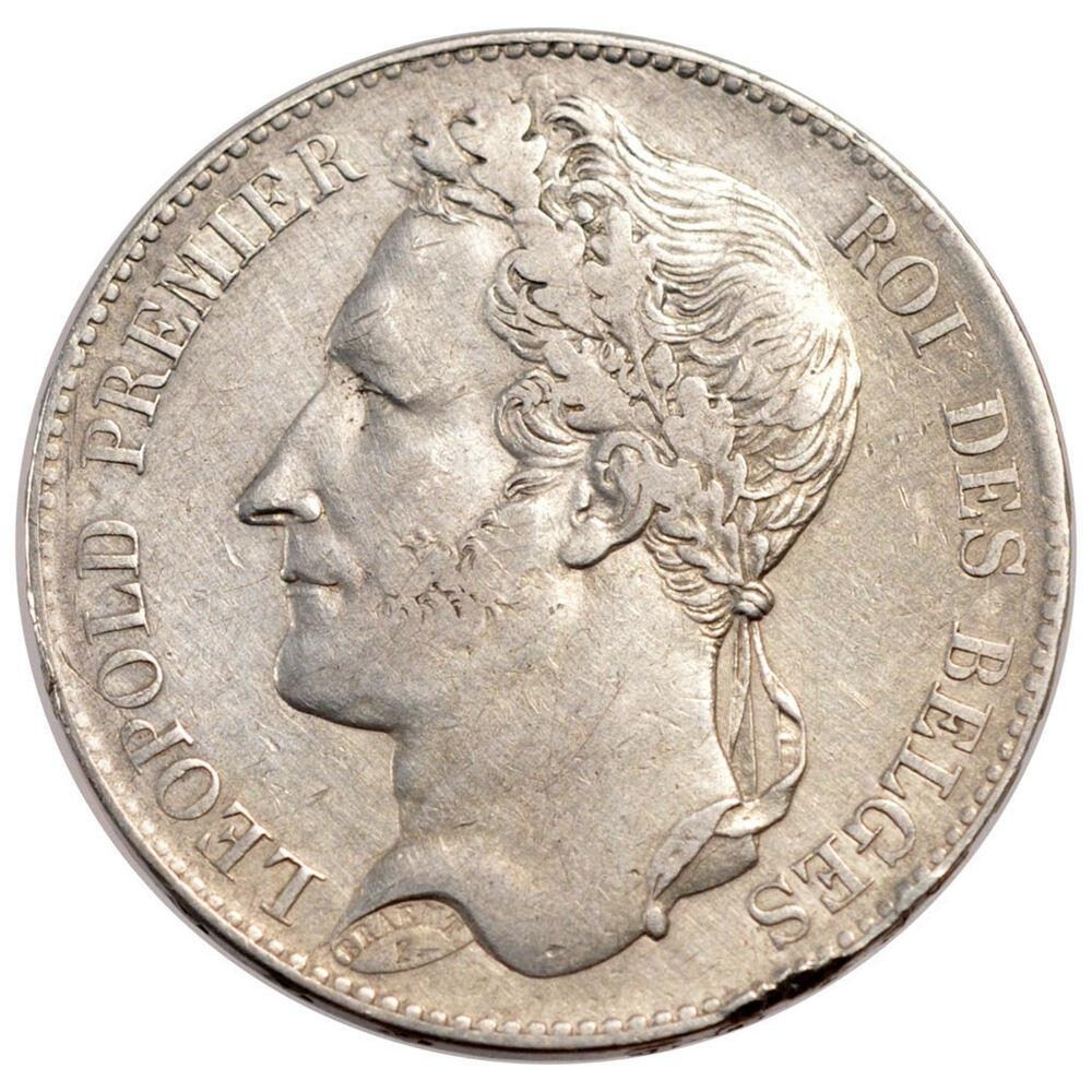belgium coins belgium leopold i 5 francs laureate head ebay. Black Bedroom Furniture Sets. Home Design Ideas