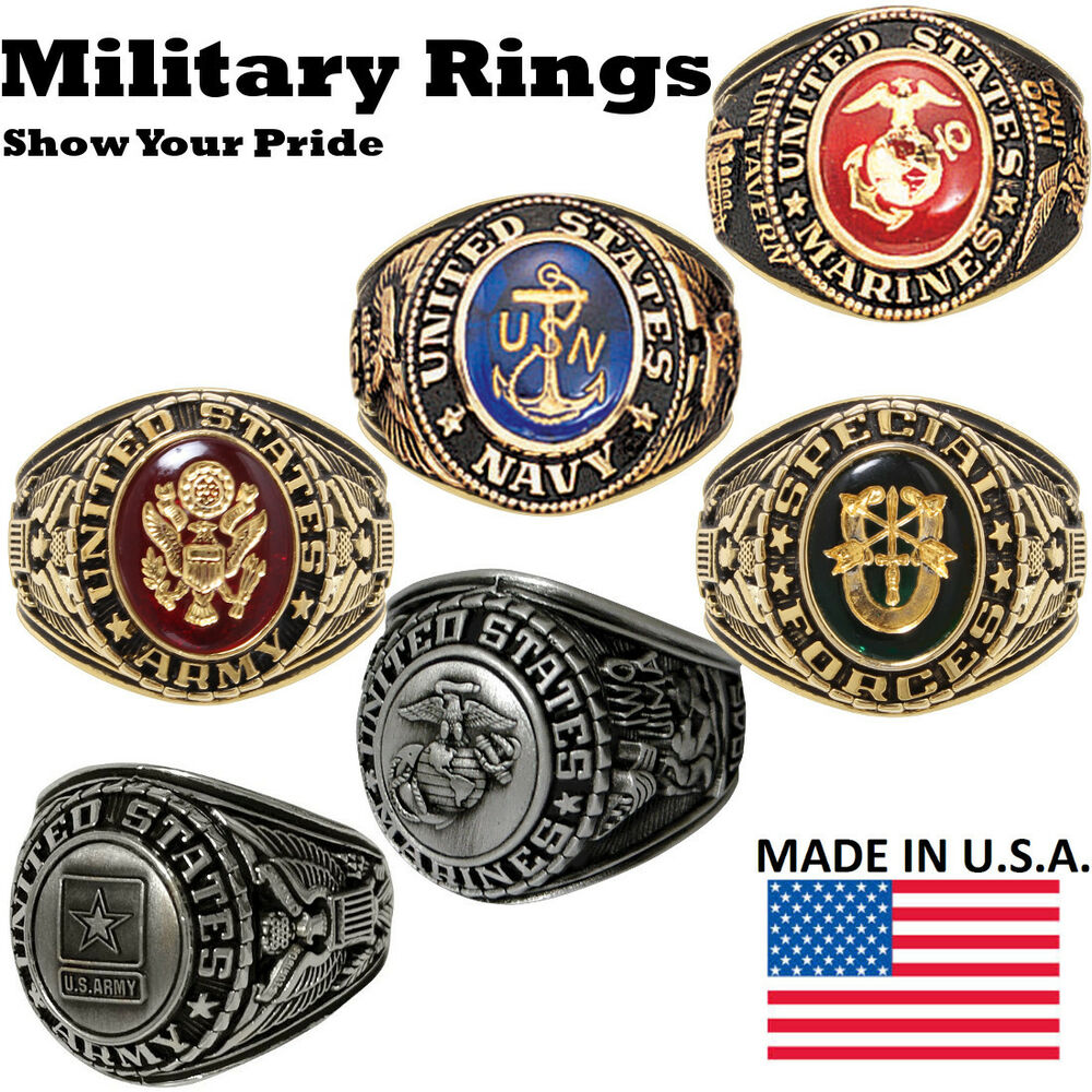 Deluxe Military Rings - Army, Navy, Sp. Forces, Marines ...