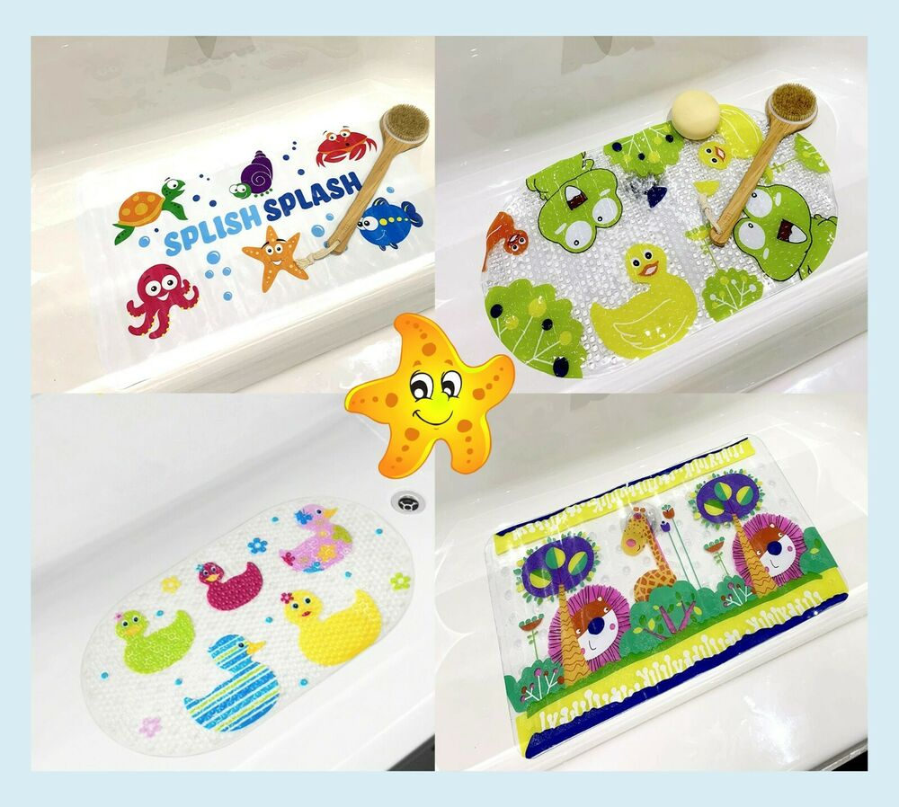 kids childs baby safety ducks long strong suction anti non slip bath shower mat ebay. Black Bedroom Furniture Sets. Home Design Ideas