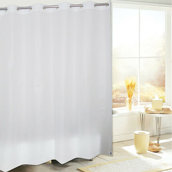 Ez on heavyweight hookless vinyl shower curtains by chf