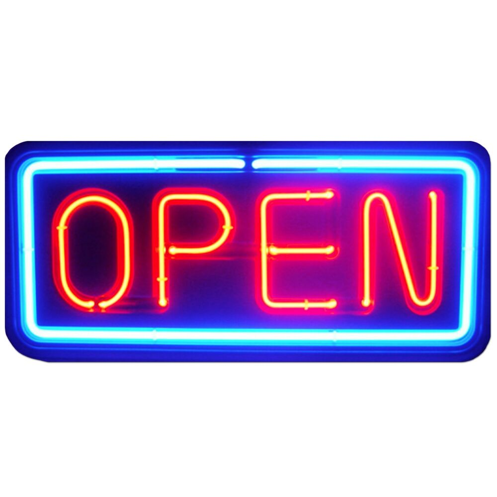 neon open sign store business bright light display led