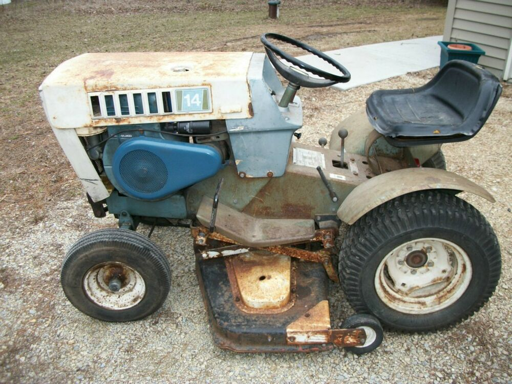 sears suburban ss 14 garden tractor w 42 deck and front blade ebay