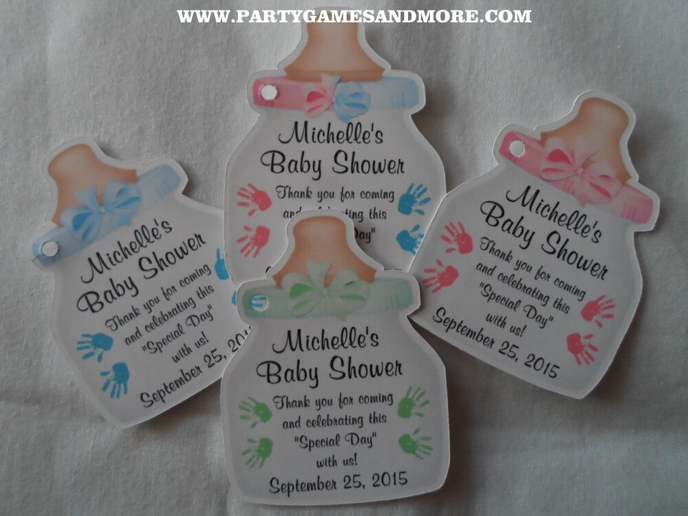 Unique personalized baby shower party favor gift tags for Baby shower decoration twins