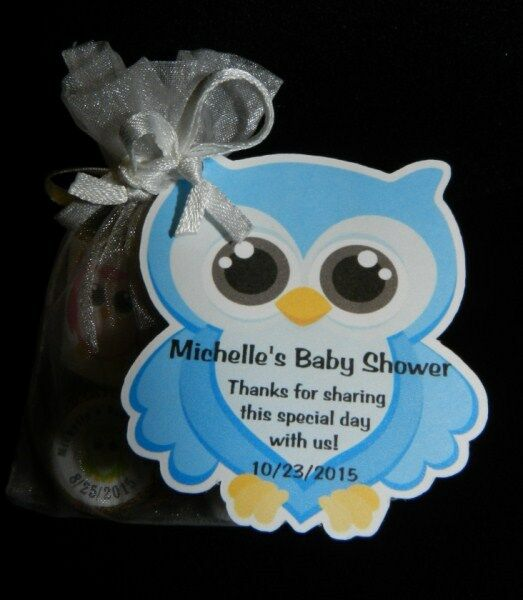 Owl Baby Shower Supplies: UNIQUE PERSONALIZED OWL BABY SHOWER PARTY FAVOR BIRTHDAY