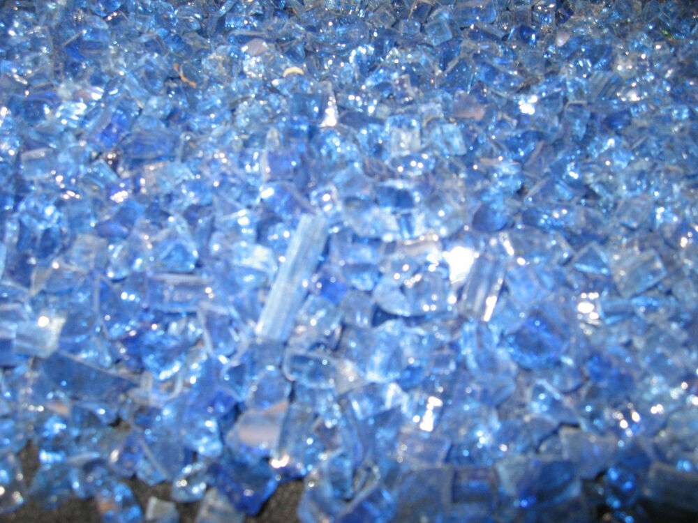 Reflective Caribbean: Cobalt Blue Reflective Fire Glass For Your Gas Fireplace