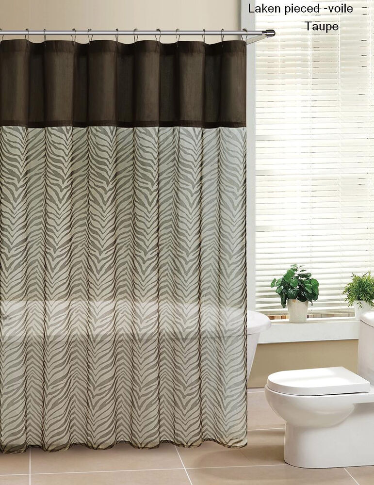 Laken Zebra Printed Sheer Voile Amp Faux Silk Shower