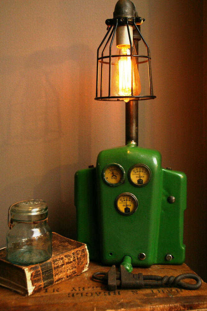 Tractor Desk Lamp : John deere dash light lamp steampunk industrial tractor