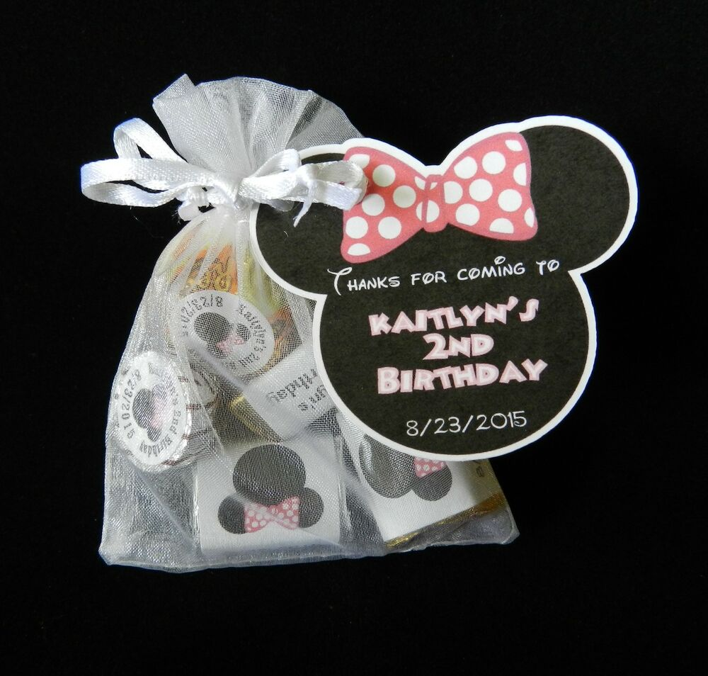 minnie mouse birthday party baby shower party favor gift tag ebay