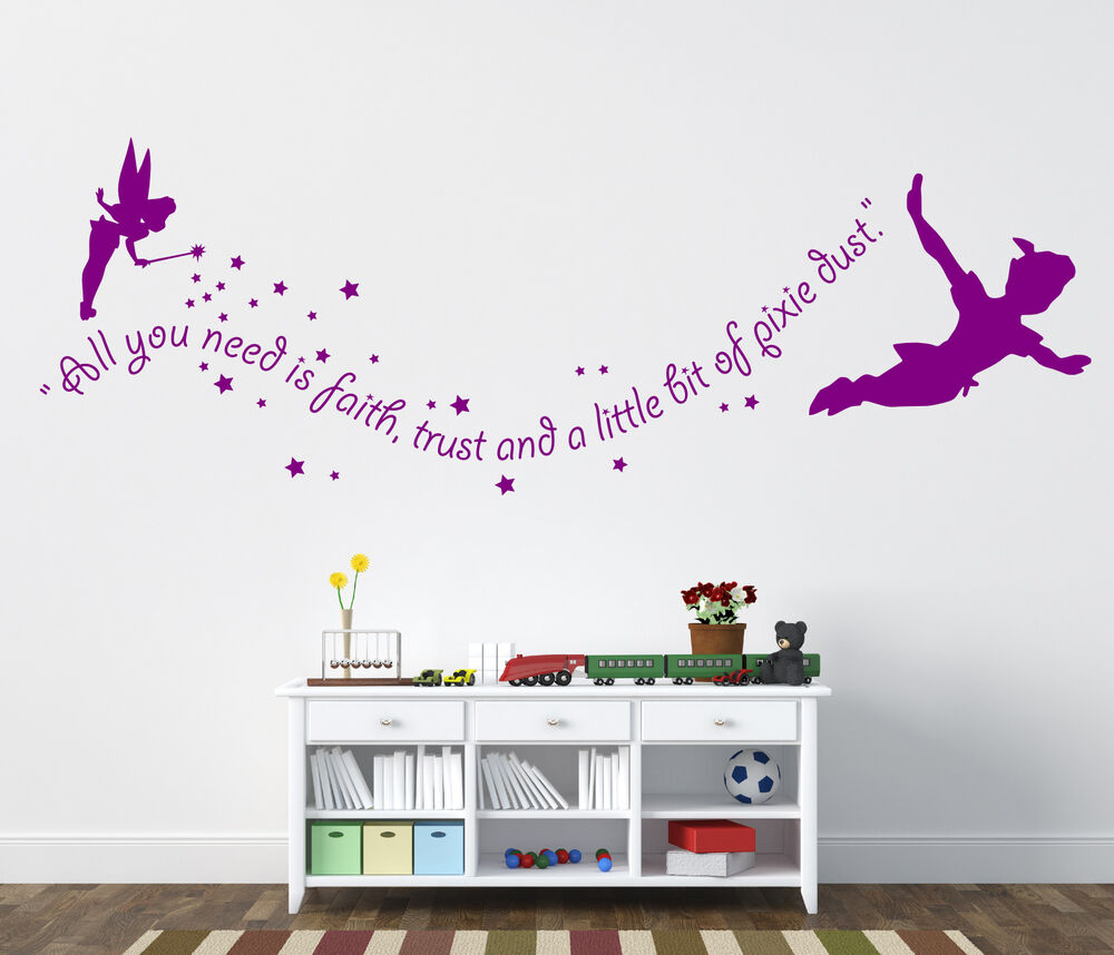peter pan wall stickers tinkerbell wall stickers ebay