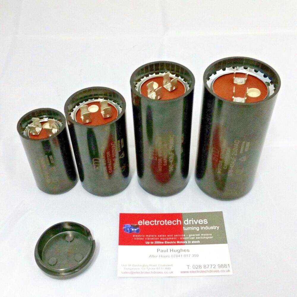 Electric motor start capacitors 50uf to 408uf mfd 250vac for How to test a motor start capacitor