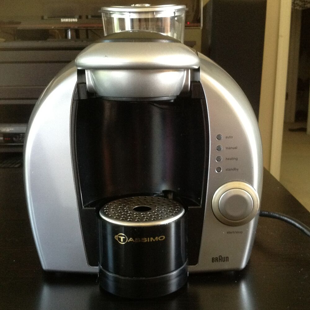 Coffee Maker Braun Tassimo : Braun Tassimo 1 Cup POD Coffee Maker Model 3107 eBay