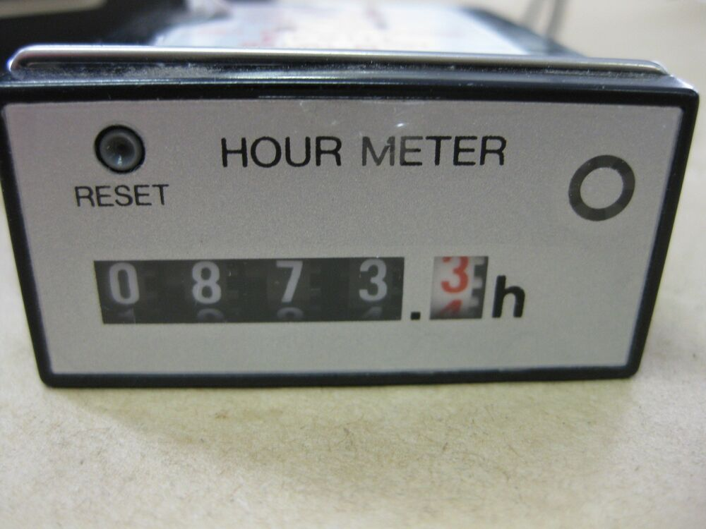 Hour Meters Panel : Nais th panel mount hour meter vac matmushita