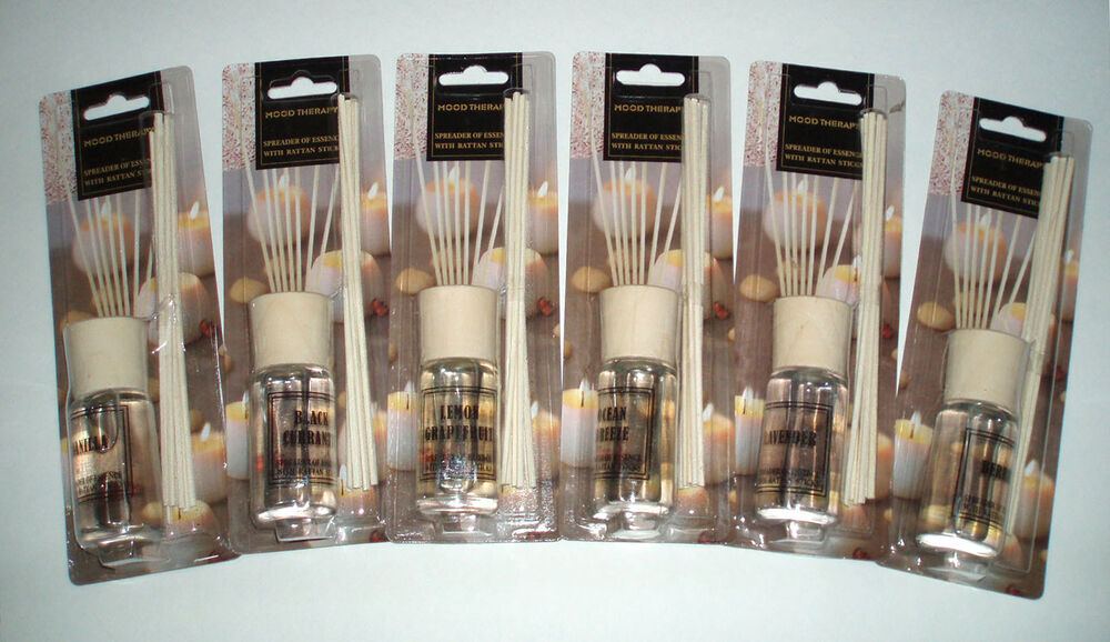 WHOLESALE LOT (6) MOOD THERAPY Fragrance Scented Oil Reed