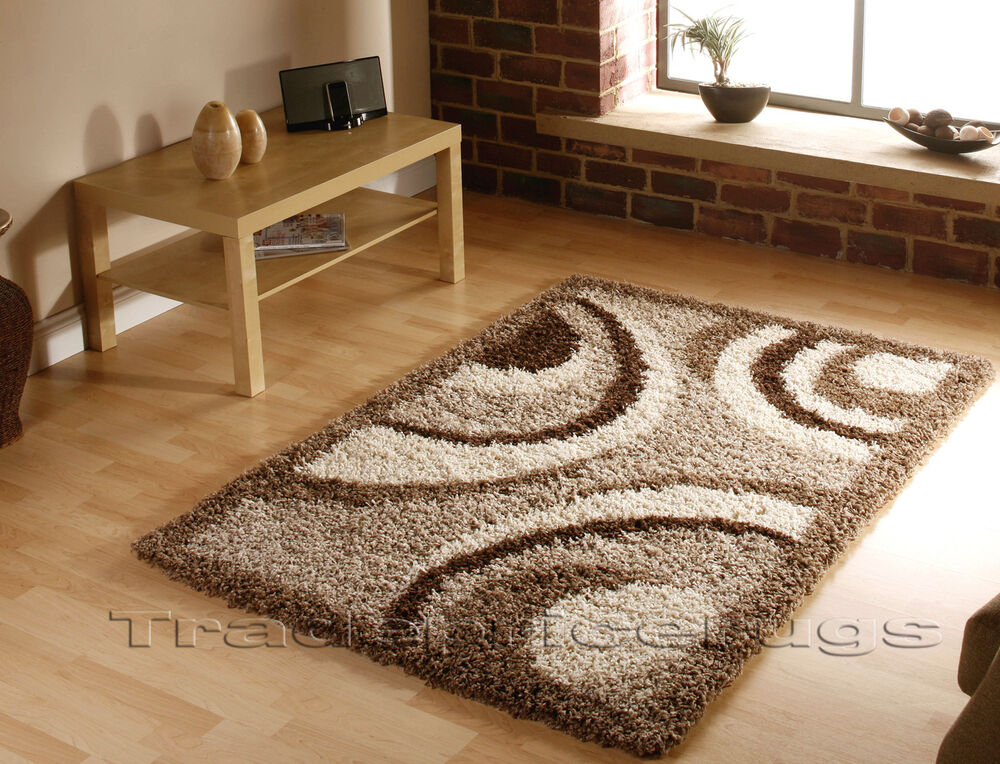 Large Thick Light Dark Beige With Brown Swirl Circle