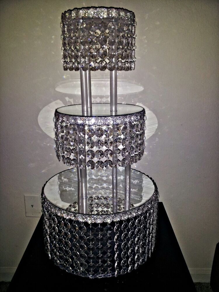 Decor Cake Holder : 1 METRE CRYSTAL CLEAR GARLAND WEDDING CAKE STAND ...