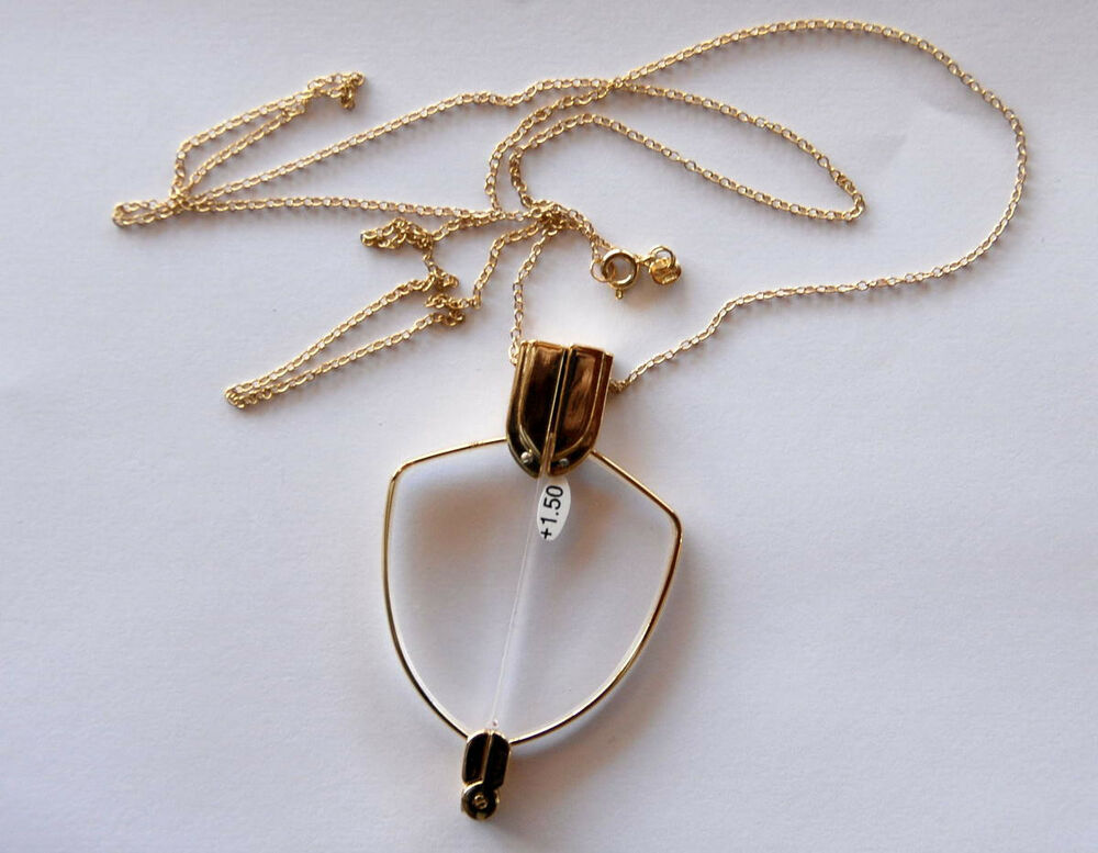foldable reading glasses worn as a necklace