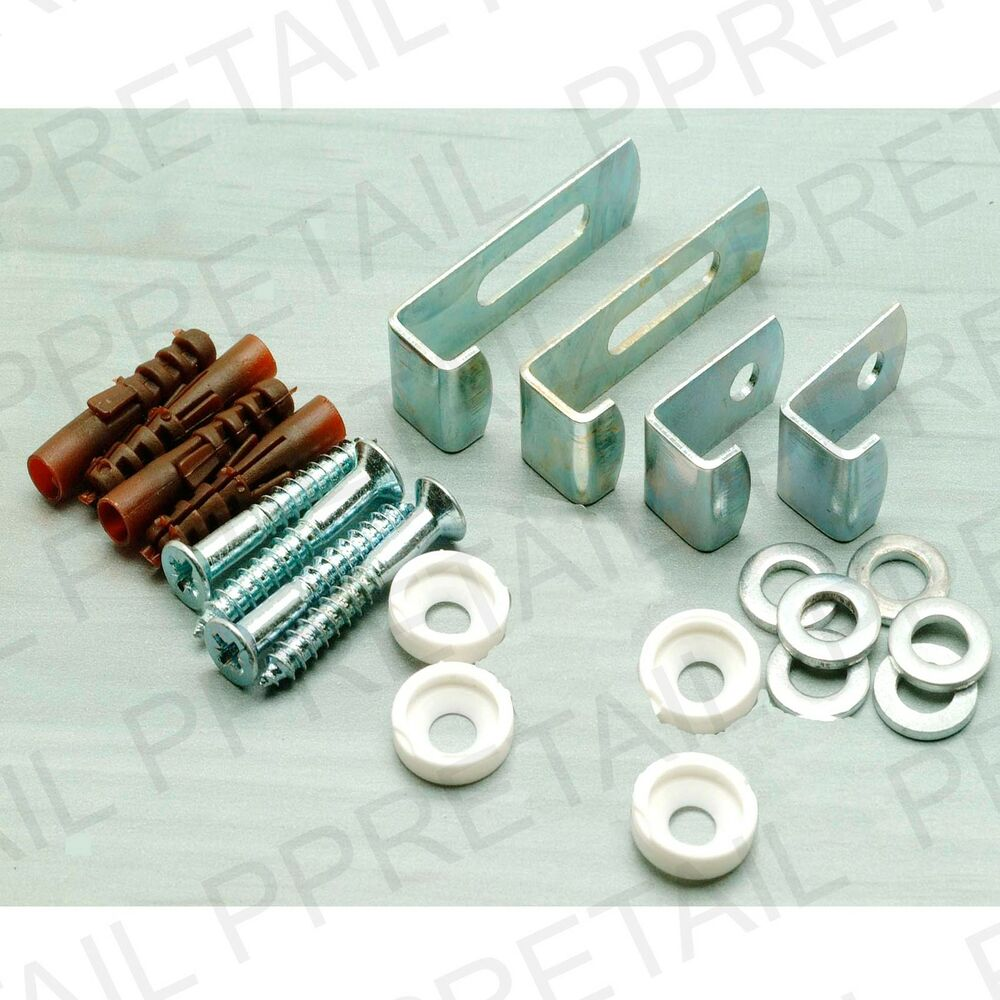 Large mirror hanging kit fitting wall brackets screws ebay for Mirror brackets