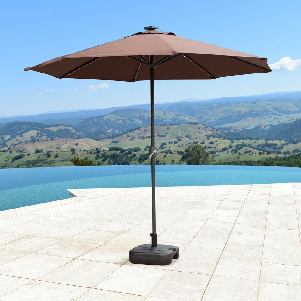 SUPERNOVA 9'FT Solar LED Lights Patio Umbrella Garden