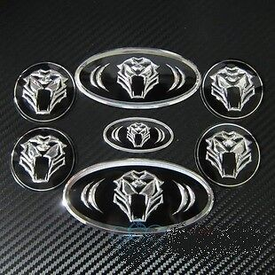 Car Hood Trunk Steering Wheel Cap Badge Emblem Set Tiger