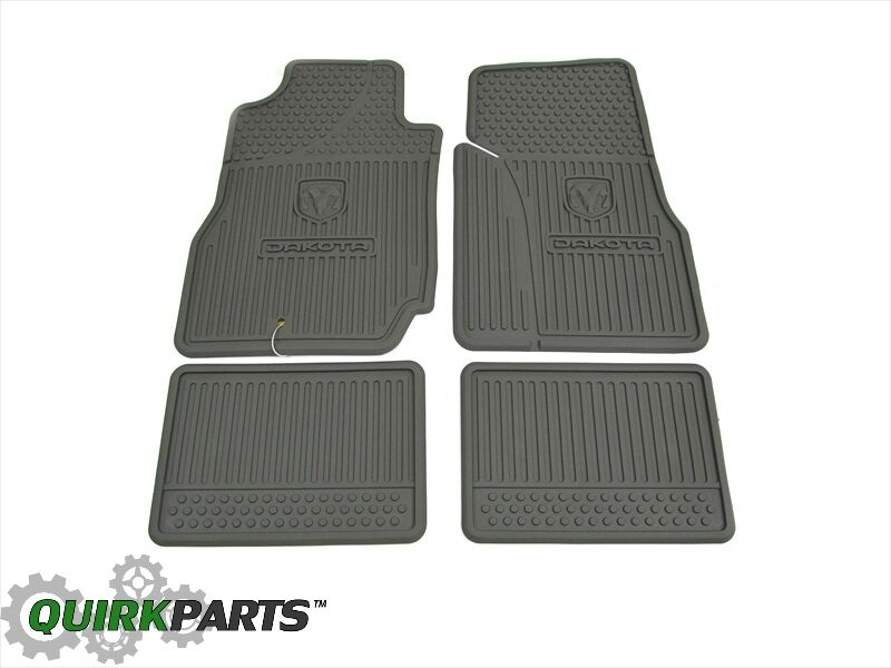 2006 2011 Dodge Dakota Crew Cab Slush All Weather Rubber Floor Mats Set Mopar Oe Ebay