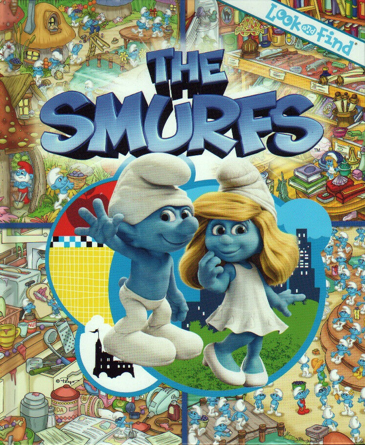 The Smurfs LOOK AND FIND Book NEW Blue Moon PAPA Gargamel ...