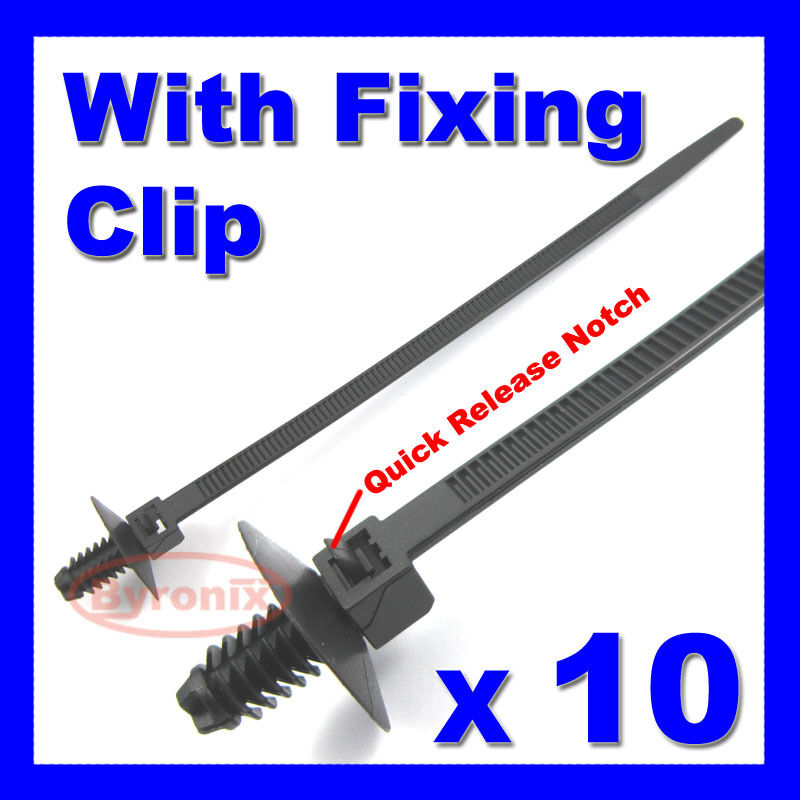 Cable Ties Kit Car Boat Trailer Zip Tie Wrap Push Rivet Clip Wiring Loom
