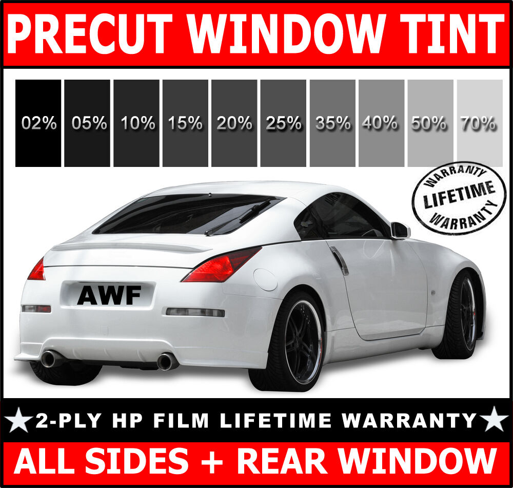 2ply hp all sides rear precut window film any tint shade for 2 for 1 window tinting