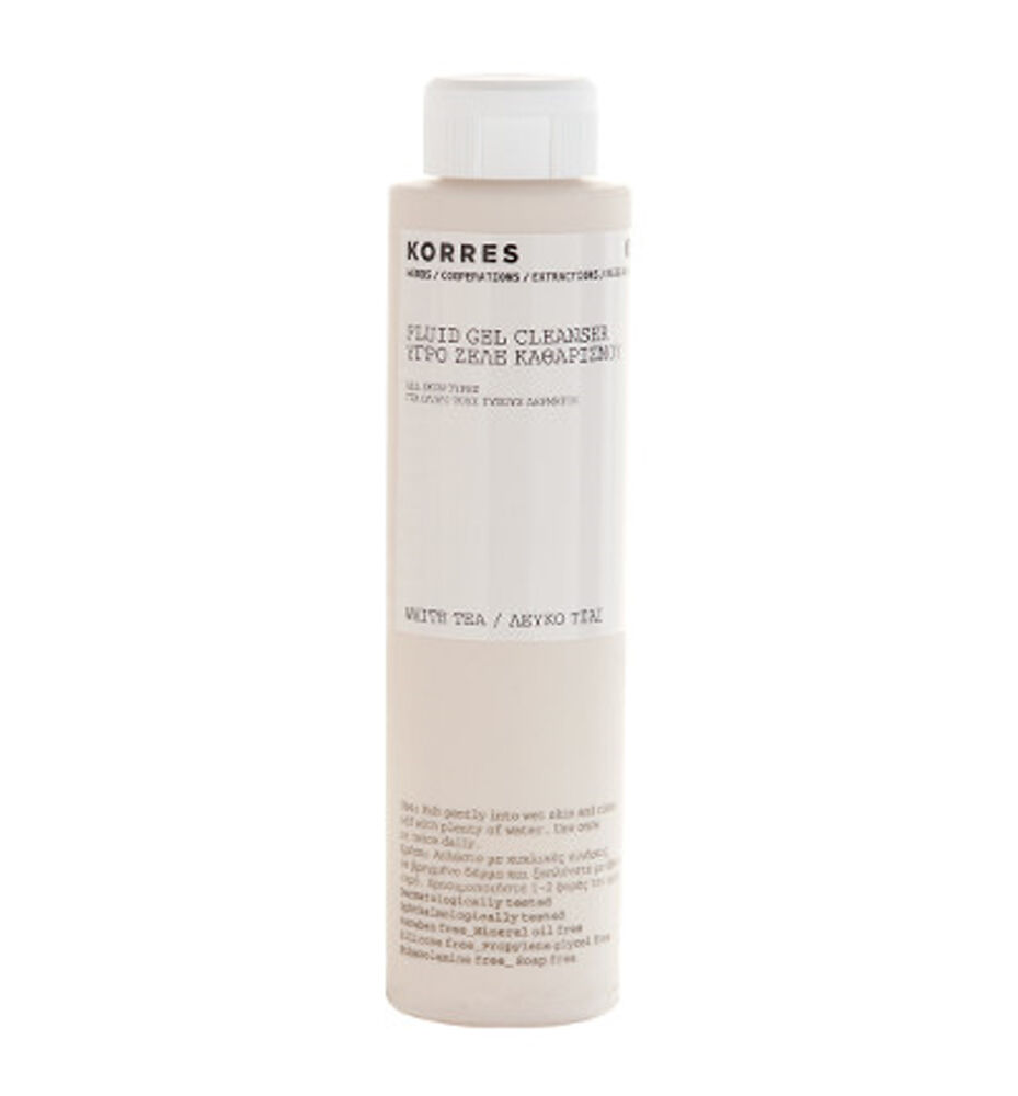 Very impressive Korres white tea facial fluid gel cleanser Mmmm, Dakota