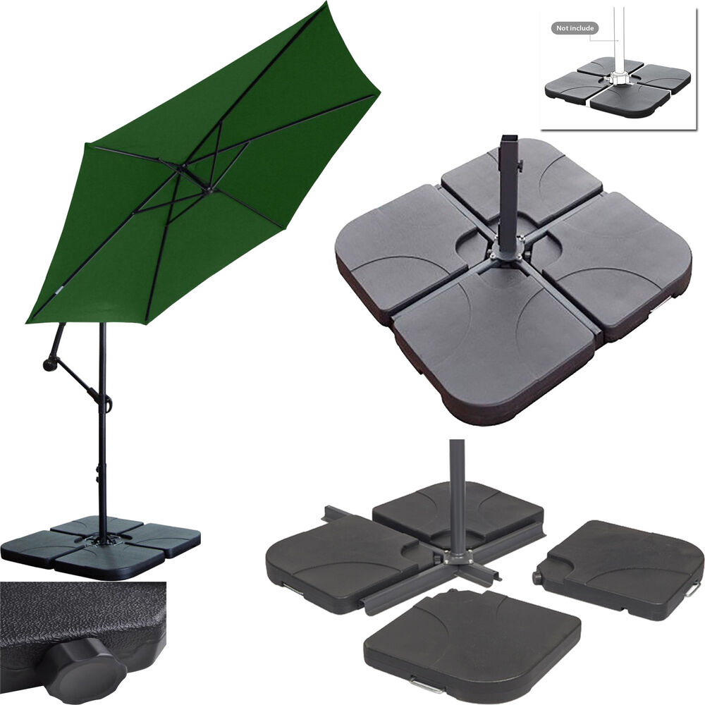 Parasol base garden cast iron effect patio stand heavy