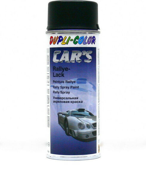 Schwarz seidenmatt /DUPLI-COLOR CARS Lackspray /DC652240