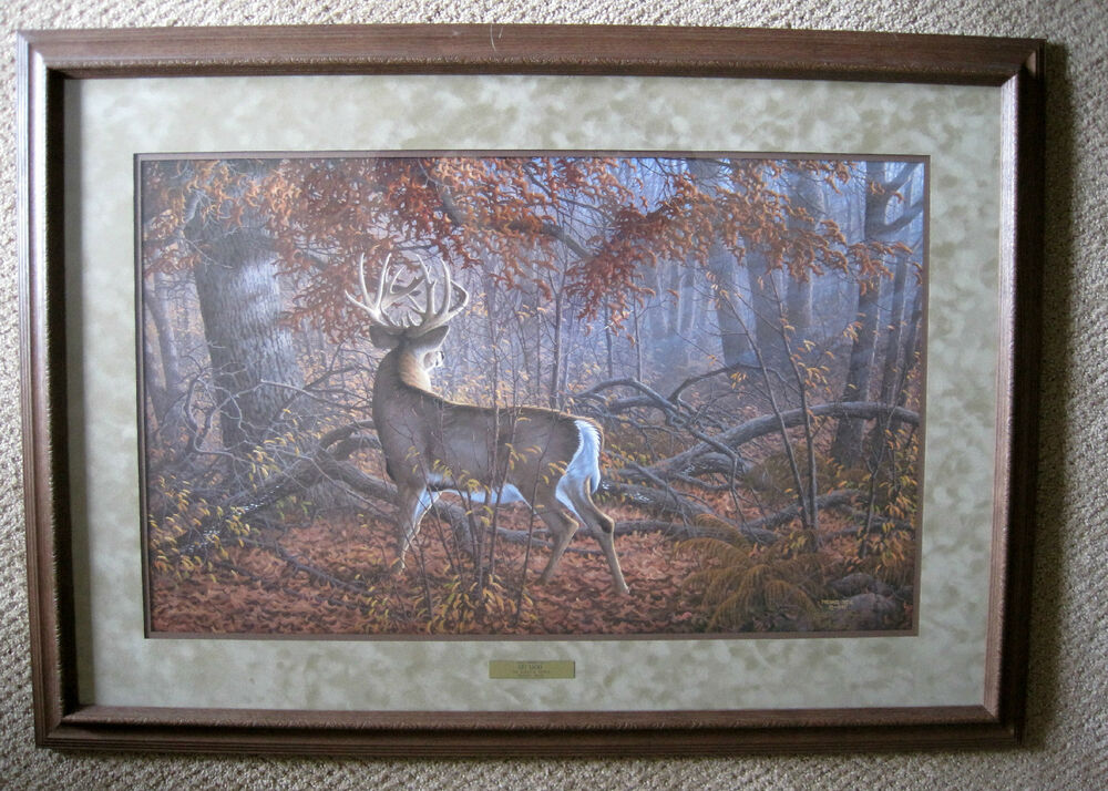 Custom Framed Quot Get Lucky Quot By Michael Sieve Whitetail Deer Hunting Print Ebay
