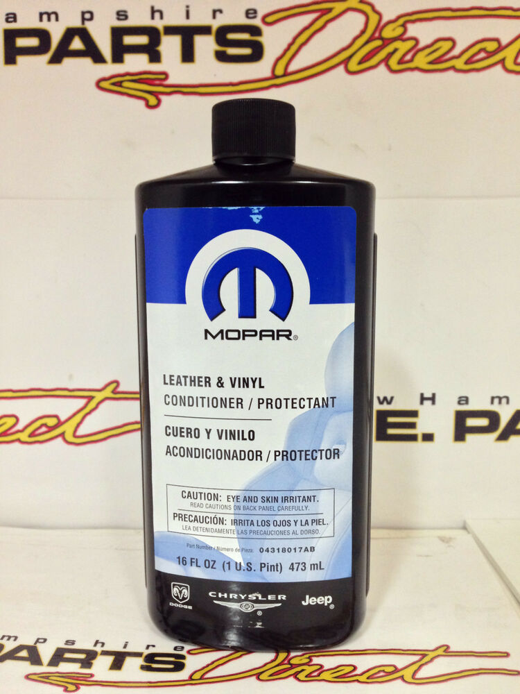 chrysler dodge jeep leather vinyl cleaner conditioner protectant 4318017ab ebay. Black Bedroom Furniture Sets. Home Design Ideas