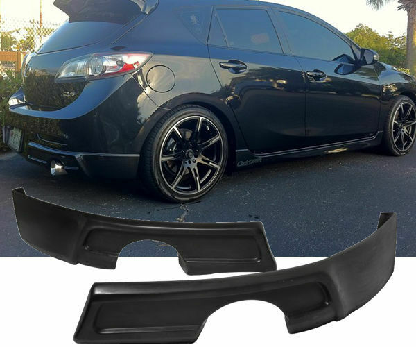 09 11 mazda 3 4 5dr k speed urethane rear bumper lip splitter valance spats ebay. Black Bedroom Furniture Sets. Home Design Ideas