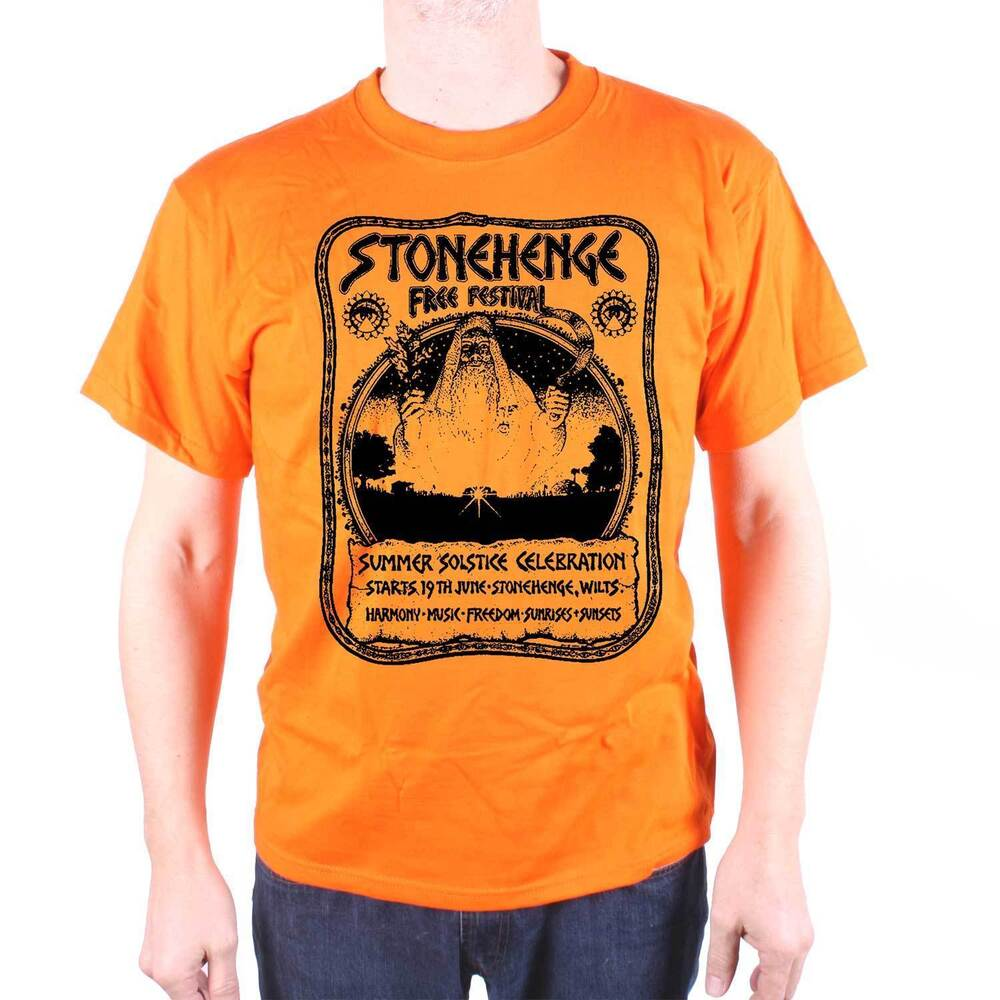 Stonehenge festival t shirt 1974 poster hawkwind gong for T shirts online uk