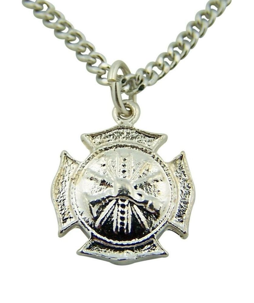 Fine jewelry 5 8 creed 925 silver firefighter badge for What is fine jewelry