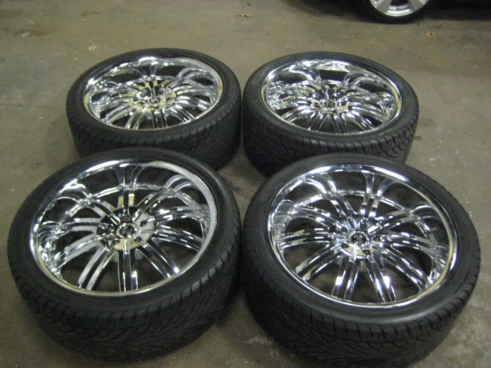 24 Inch Chrome Rims Ii Crave Alloys No11 Tires Wheels And