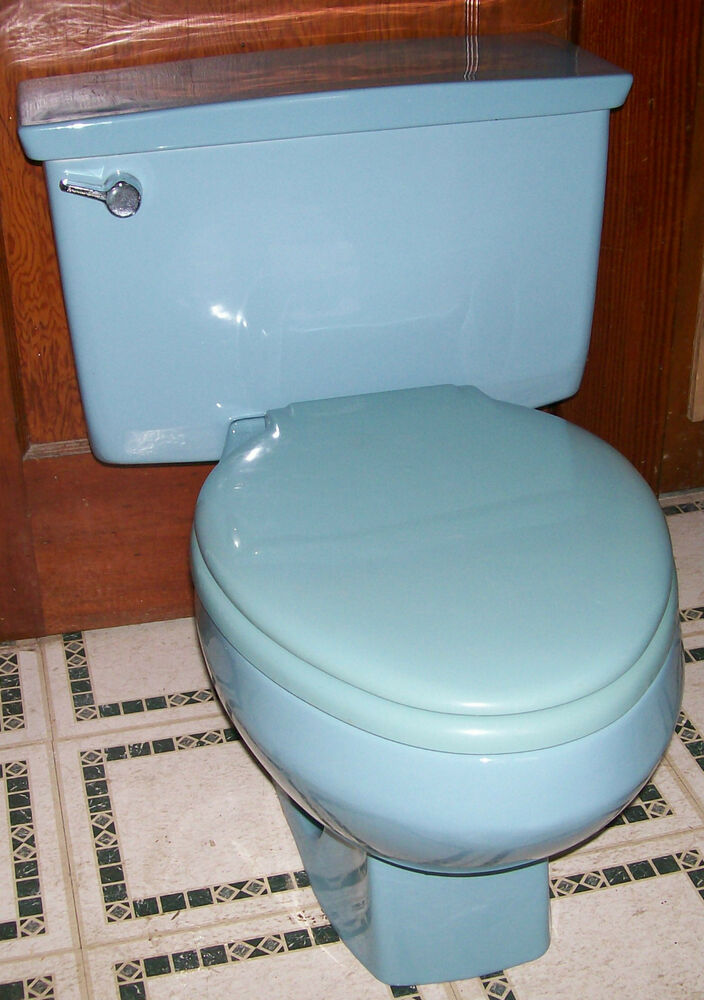 Antique American Standard Vent Away Blue Toilet W Church