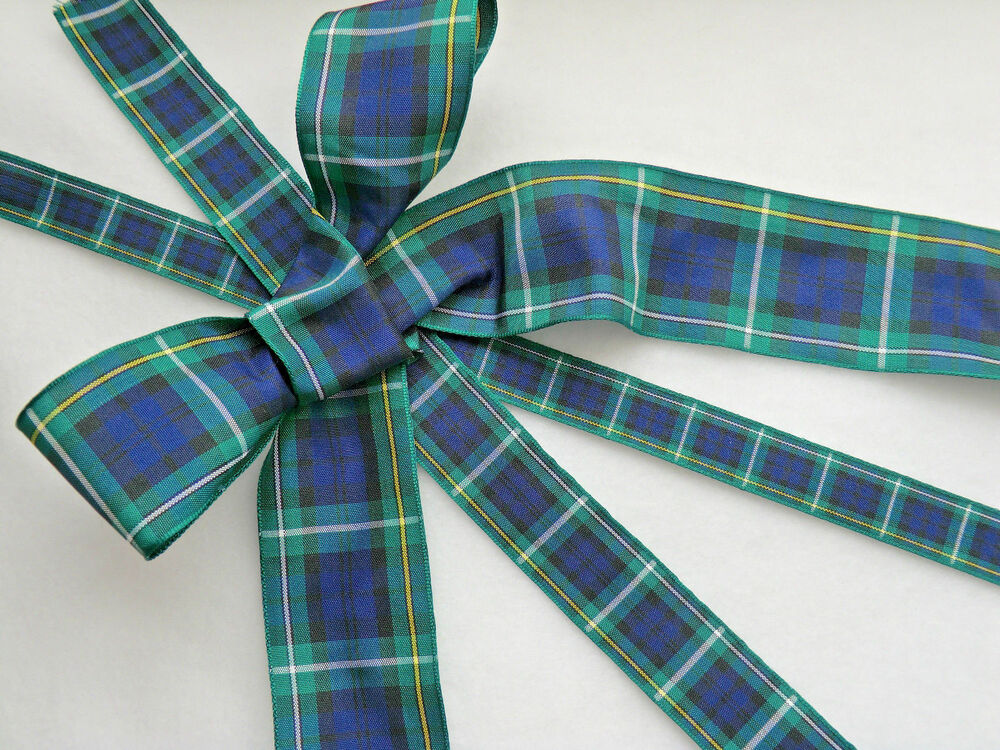 CLAN TARTAN RIBBON, CAMPBELL, 40,25,16mm,BURNS,WEDDING,FLORAL,CRAFT ...
