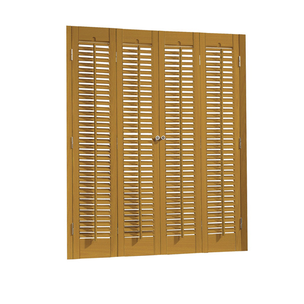 Faux wood diy traditional 1 1 4 interior shutter kits 27 width ebay - Plantation shutters kits ...