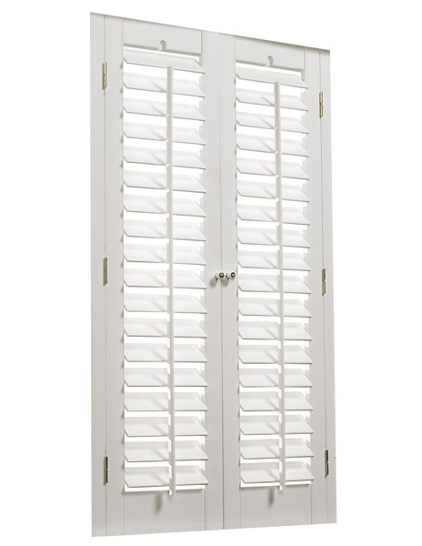 Faux wood diy plantation 2 1 4 interior shutter kits 29 w ebay - Plantation shutters kits ...
