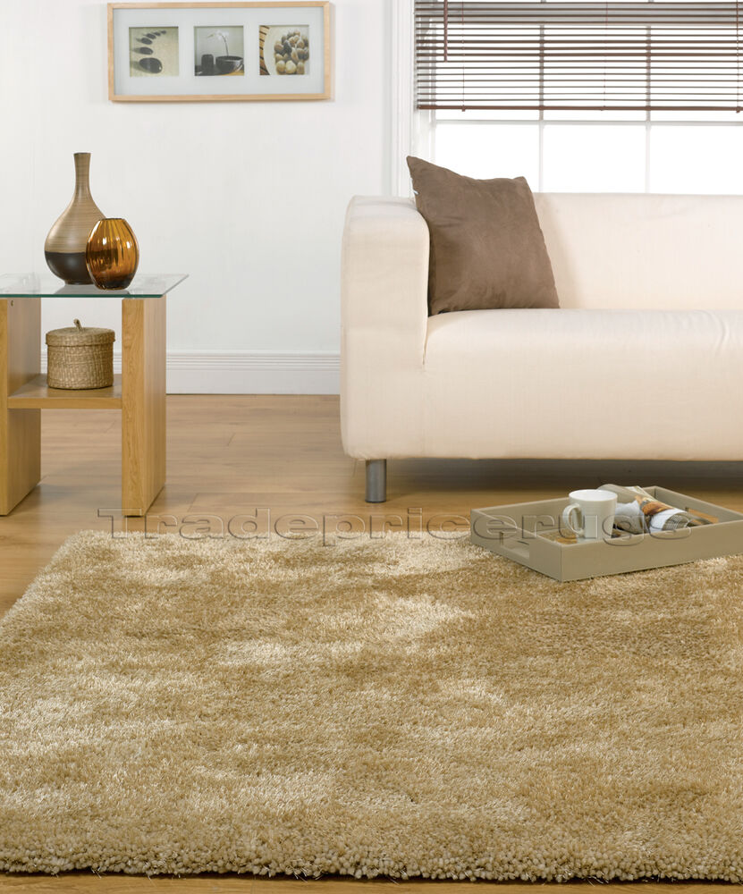 Velvet Soft Rugs In Natural Beige: EXTRA LARGE THICK CHUNKY SOFT LUXURIOUS NATURAL